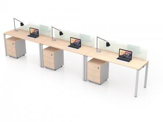 โต๊ะทำงานกลุ่ม 3 ที่นั่ง