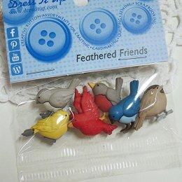 กระดุมแฟนซี Feathered Friends