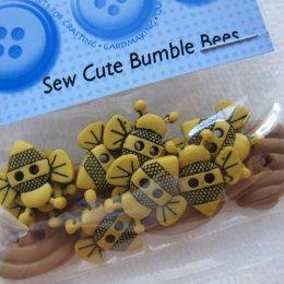 กระดุมแฟนซี Sew Cute Bumble Bees