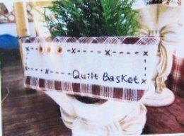 ชุดอุปกรณ์พร้อมเย็บ กระเป๋าเครื่องเขียน Quilt Basket สีน้ำตาล