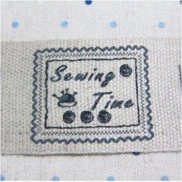 ป้ายผ้าลินิน Sewing Time ขนาด 4 * 6 ซม.