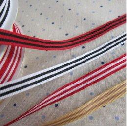 เทปผ้า ลายเส้นคู่ กว้าง 1 ซม. ยาว 90 ซม.