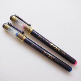(เหลือสีฟ้า) ปากกาเขียนผ้า เส้นเล็ก แบบลบได้