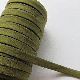 ผ้ากุ๊นสีพื้น กว้าง 1 ซม. ยาว 90 ซม. (สีเขียวขี้ม้า)