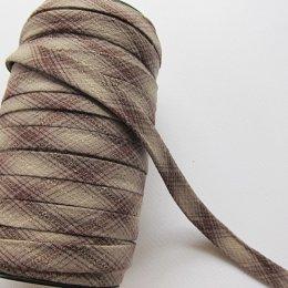 ผ้ากุ๊นสำเร็จรูป กว้าง 1 ซม. ยาว 90 ซม. (สีน้ำตาล)