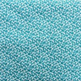 ผ้าญี่ปุ่น ลายผีเสื้อ สีฟ้า ขนาด 1/4 หลา (45 * 55 ซม.)