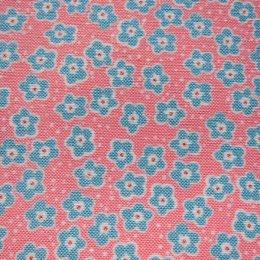 ผ้าคอตตอนลินิน ลายดอก ขนาด 1/4 เมตร (50 * 70 ซม.)