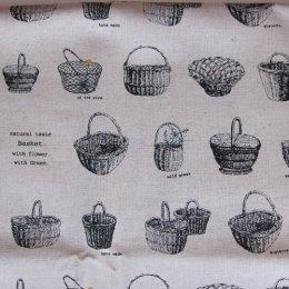 ผ้าคอตตอน-ลินิน ลายตะกร้า ขนาด 1/4 หลา (45 * 55 ซม.)