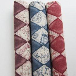 ผ้าคอตต้อน+ลินินญี่ปุ่นจัดเซต 3 ชิ้น  (27 * 50 ซม.)