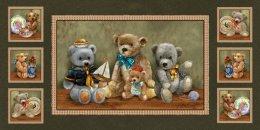 ผ้าอเมริกา Bear Hugs 3 ขนาด 60 * 110 ซม.