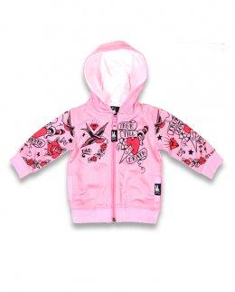 Six Bunnies TRUE LOVE FOREVER pink Baby Kapuzenpullover / Hoodies.