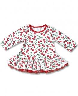 Six Bunnies CUTE CHERRIES long sleeve Baby Kleid