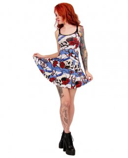 Liquor Brand NAUTICAL SKULL Damen Kleid