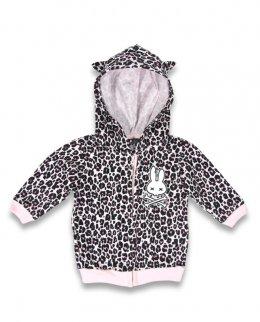 Six Bunnies LEO pink Baby Kapuzenpullover / Hoodies.