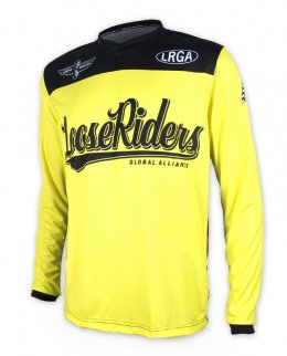 Loose Riders TEAM ISSUE YELLOW Herren Jerseys Lange Ärmel