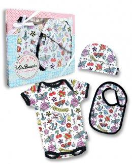 Six Bunnies CUTE FLASH 3 pcs set Baby Giftset