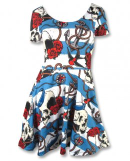 Liquor Brand NAUTICAL SKULL-skate Damen Kleid
