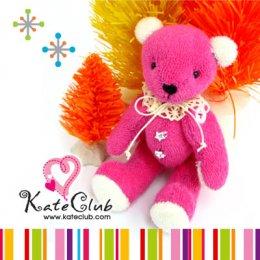 (พร้อมส่ง สีชมพู, ฟ้า) ชุดอุปกรณ์เย็บตุ๊กตาหมี Dreamy Bear Kit **ตัดผ้าให้แล้วพร้อมเย็บจ้า (ความสูง 15 cm) **คลิกเลือกสีด้านใน