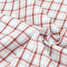 ผ้า Cotton ของ คุณ Yukari No.9 สก็อตแดง (1/4 เมตร)