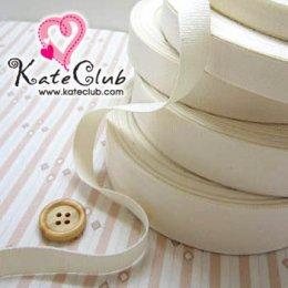 เทปผ้า Cotton สีขาวครีม **ใช้สำหรับงานปัก หรืองานปั๊ม (หน้ากว้าง 1.3 cm) 1 หลา