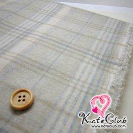 ผ้า Cotton ลายสก๊อต Yoko No.12 (ขนนุ่ม) - 1/4 เมตร