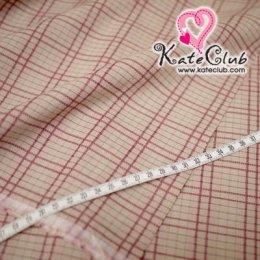SALE - ผ้า Country No.25 ลายตาราง (ตัดขาย 1/2 เมตร=50x110cm)