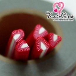 สตอเบอร์รี่แกนขาว - Polymer Clay Cane - 5mm (1 แท่ง)
