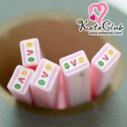 เค้กสตอเบอร์รี่ - Polymer Clay Cane (1 แท่ง)