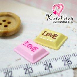 ช็อกโกแลต LOVE - ขนาด 15 x 11 mm (1 ชิ้น) *คลิกเลือกรสด้านใน