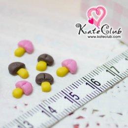 (เหลือรสช็อกโกแลต) ช็อกโกแลตรูปเห็ด - ขนาด 6 x 9 mm (1 set มี 10 ชิ้น) *คลิกเลือกรสด้านใน