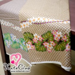 SALE - ผ้า Cotton ของ คุณ Kathy Mom ลายตะกร้าสานดอกไม้  (ตัดขาย 1/2 เมตร=50x110cm)