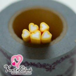 หัวใจเหลือง - Polymer Clay Cane - 5mm (1 แท่ง)