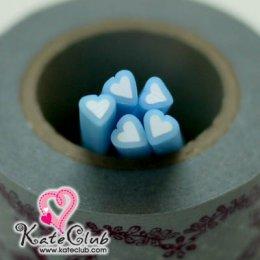 หัวใจฟ้า - Polymer Clay Cane - 5mm (1 แท่ง)