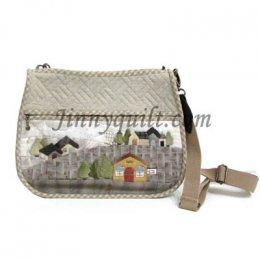 ชุดอุปกรณ์เย็บกระเป๋า Home Sweet Home - Shoulder Bag By JinnyQuilt