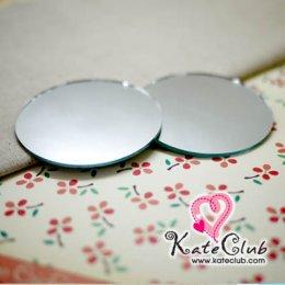 กระจกเงากลม ใช้ติดด้านใน Petit Pancake Coin Purse ขนาดเส้นผ่านศก. 6.5 cm (1 แพค = 2 ชิ้น)