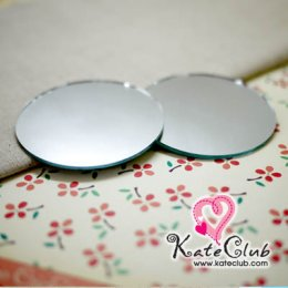 กระจกเงากลม ใช้ติดด้านใน Macaron Coin Purse ขนาดเส้นผ่านศก. 4 cm (1 แพค = 2 ชิ้น)