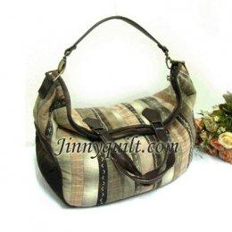ชุดอุปกรณ์เย็บกระเป๋า Striped Pressquilt Bag By JinnyQuilt