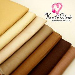(740,765,786,813 หมดค่ะ) ผ้า Cotton สีพื้น โทนสีครีม-น้ำตาล **สำหรับเย็บตัวตุ๊กตา (1/4 ม.= 50 x 55cm)