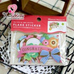 SALE - Flake Stickers Congratulations 50 ชิ้น (10 designs x 5)