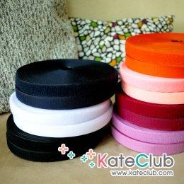 (เหลือสีดำ,ขาว,กรมท่า,ม่วง,ม่วงอมแดง,ส้ม,ชมพูอมส้ม,ชมพูบานเย็น) เมจิกเทป (เทปตีนตุ๊กแก) หน้ากว้าง 2.5 ซม. - 1 หลา **คลิกเลือกสีด้านใน