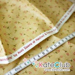 SALE - (เหลือ 1/2 ม.) ผ้า Cotton อเมริกา Anni Downs - ลายดอกไม้ (1/4 ม.= 50 x 55cm)