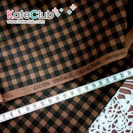 SALE - ผ้า Cotton ลายสก๊อต No.35 (ตัดขาย 1/2 เมตร=50x110cm)