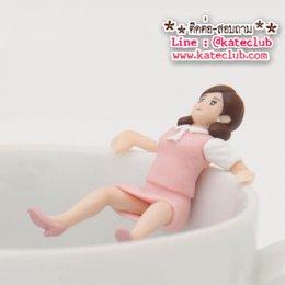 (พร้อมส่งเบอร์ 6) สาวน้อยเกาะแก้ว Cup no Fuchiko Series 2 - สีชมพู