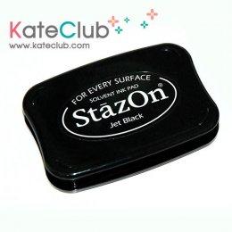 หมึก StazOn สีดำ ตลับใหญ่ - หมึกปั๊มพลาสติก อะคริลิค โลหะ กระดาษ แก้ว อลูมิเนียม ฟอยล์ หนัง และผิวกระจก (หมึกสีโปร่งแสง)