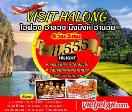 ทัวร์เวียดนาม : VISIT HALONG ไฮฟอง ฮาลอง นิงบิงห์ ฮานอย (VJ)