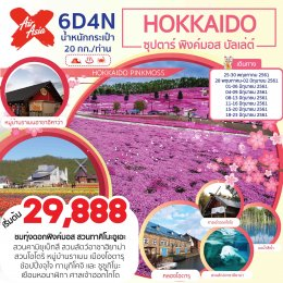 ทัวร์ญี่ปุ่น : HOKKAIDO 6D4N ซุปตาร์ พิงค์มอส บัลเล่ต์