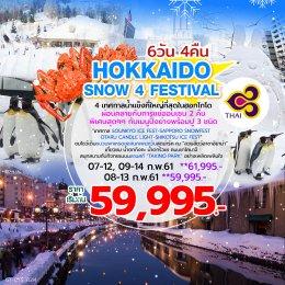 ทัวร์ญี่ปุ่น : ชม 4 เทศกาลน้ำแข็งที่ใหญ่ที่สุดในฮอกไกโด !