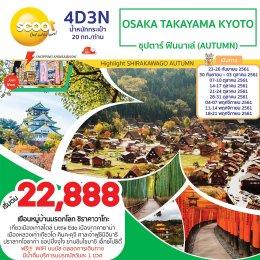 ทัวร์ญี่ปุ่น : OSAKA TAKAYAMA KYOTO  ซุปตาร์ ฟินนาเล่(AUTUMN)