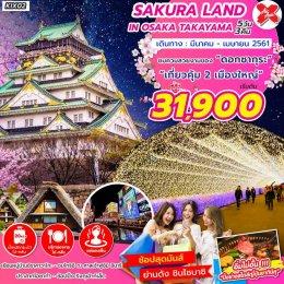 ทัวร์ญี่ปุ่น : ชมความสวยงามของดอกซากุระที่ โอซาก้า-ทะคะยะม่า