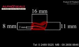 ซีลยางขอบประตูตู้อบ e-Profile QH160802R